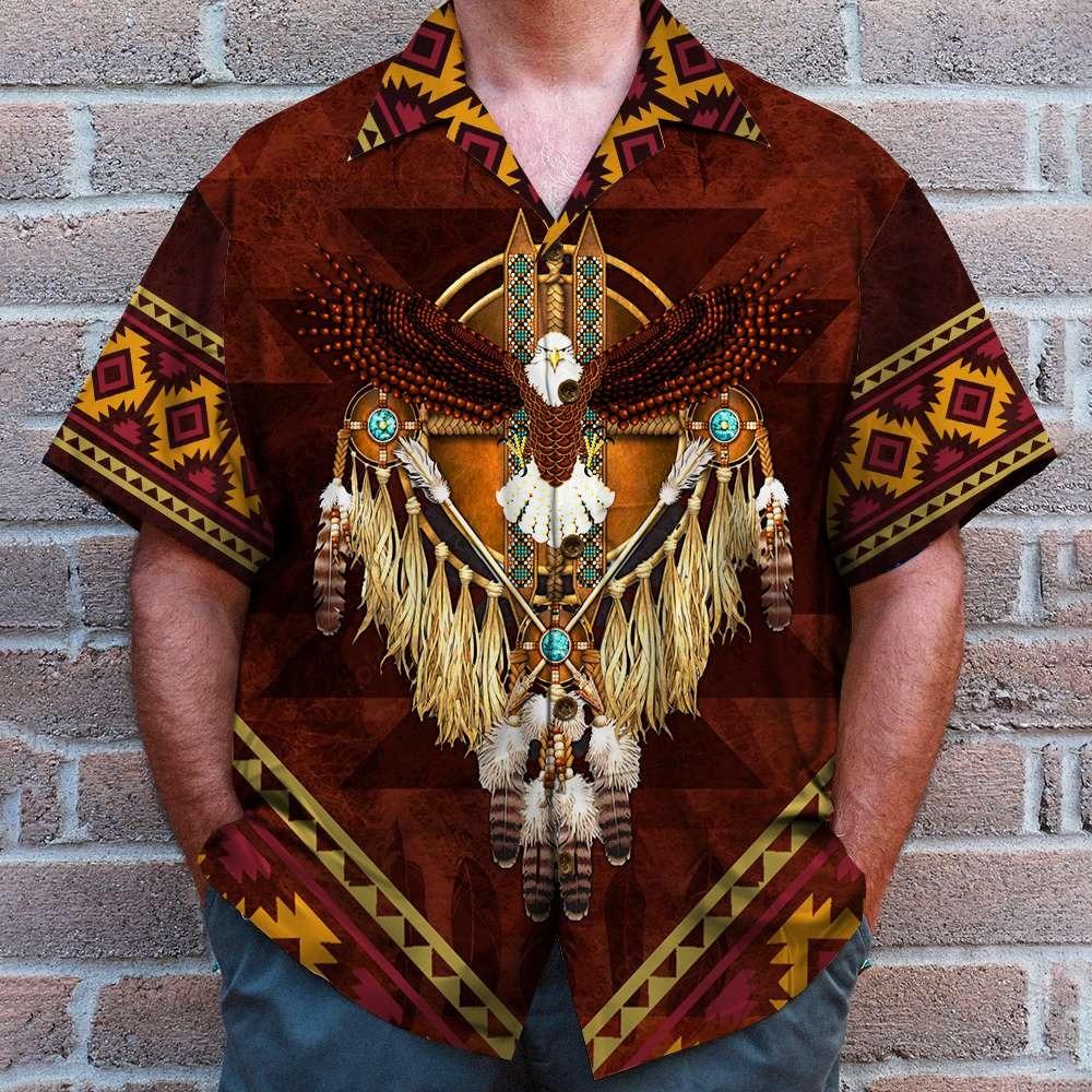 Native American Eagle Hawaiian Shirt 1