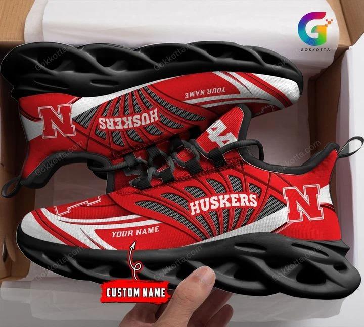 Nebraska cornhuskers NCAA personalized max soul shoes 1