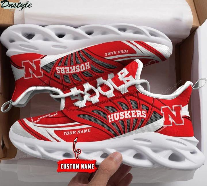 Nebraska cornhuskers NCAA personalized max soul shoes