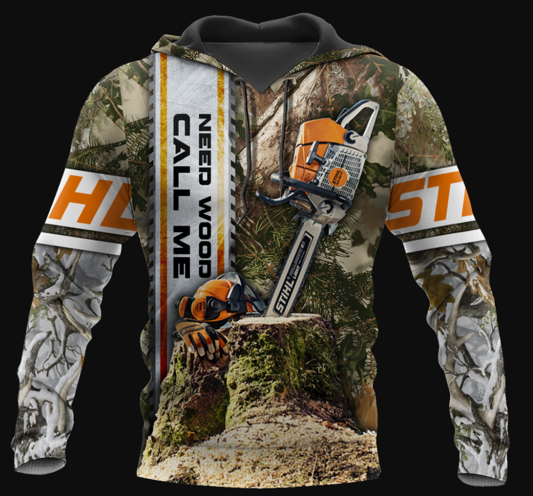 Need wood call me all over printed 3D hoodie