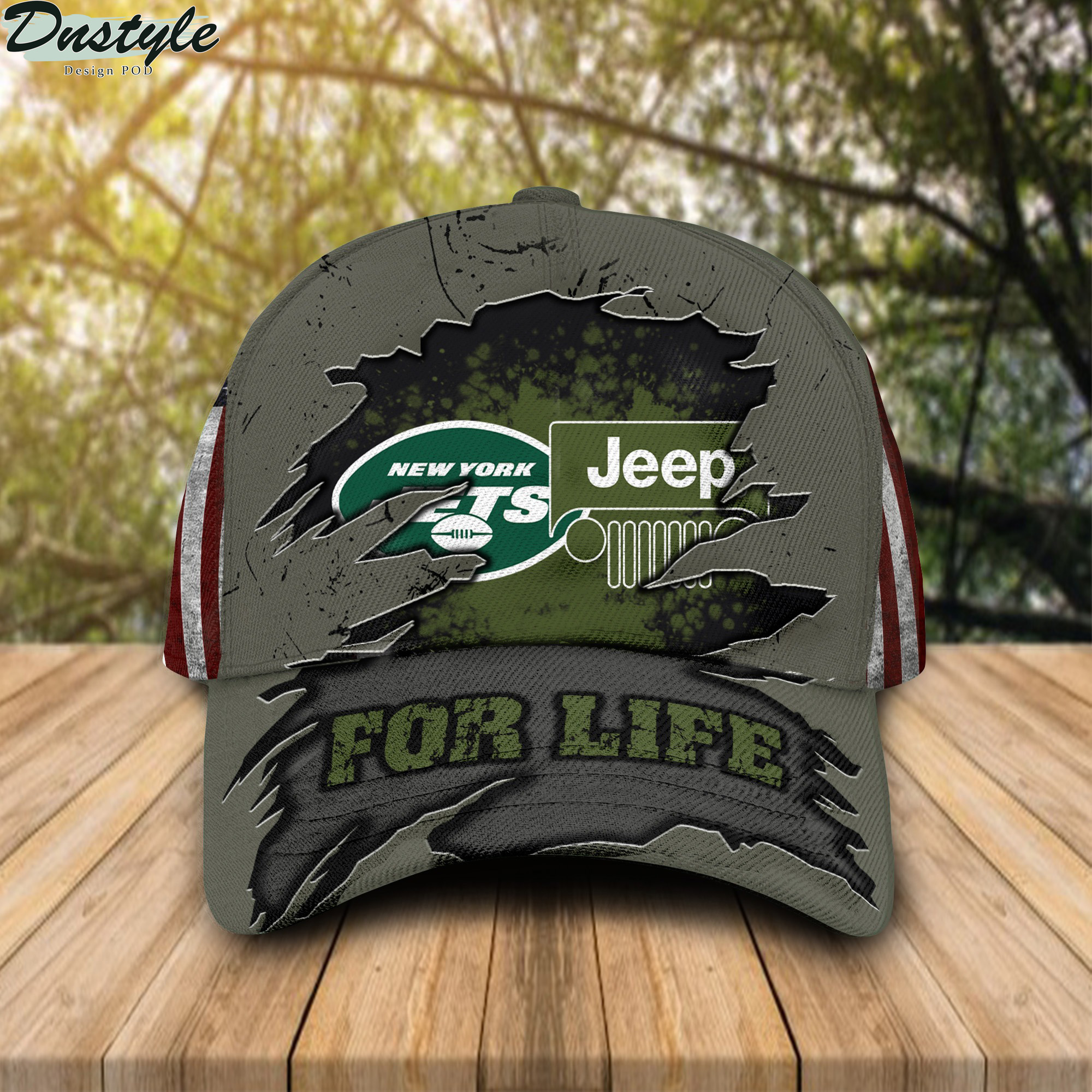 New York Jets Jeep For Life Cap