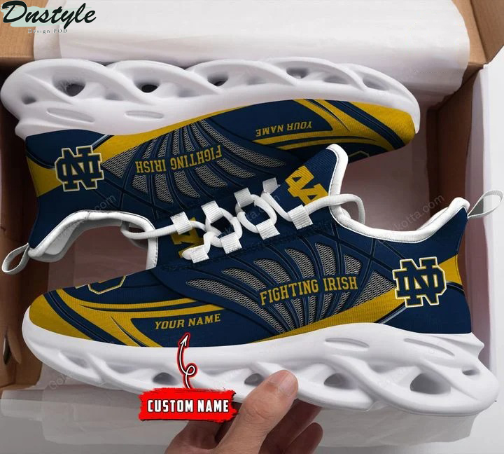 Notre dame fighting irish NCAA personalized max soul shoes