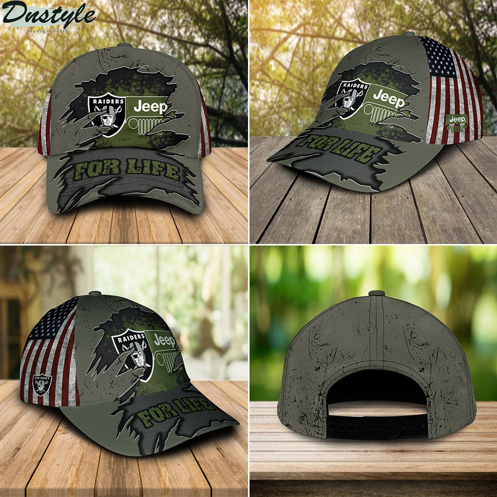 Oakland Raiders Jeep For Life Cap