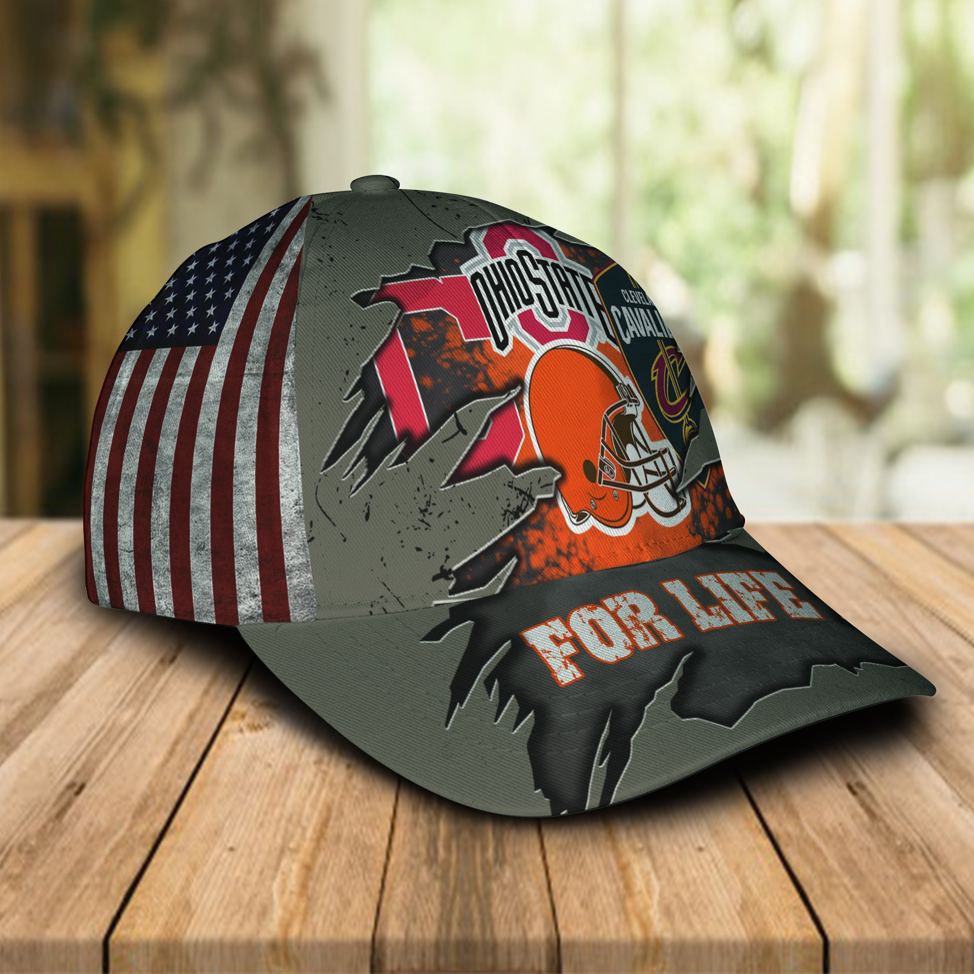 Ohio State Buckeyes Cleveland Cavaliers Cleveland Indians Cleveland Browns for life cap 1
