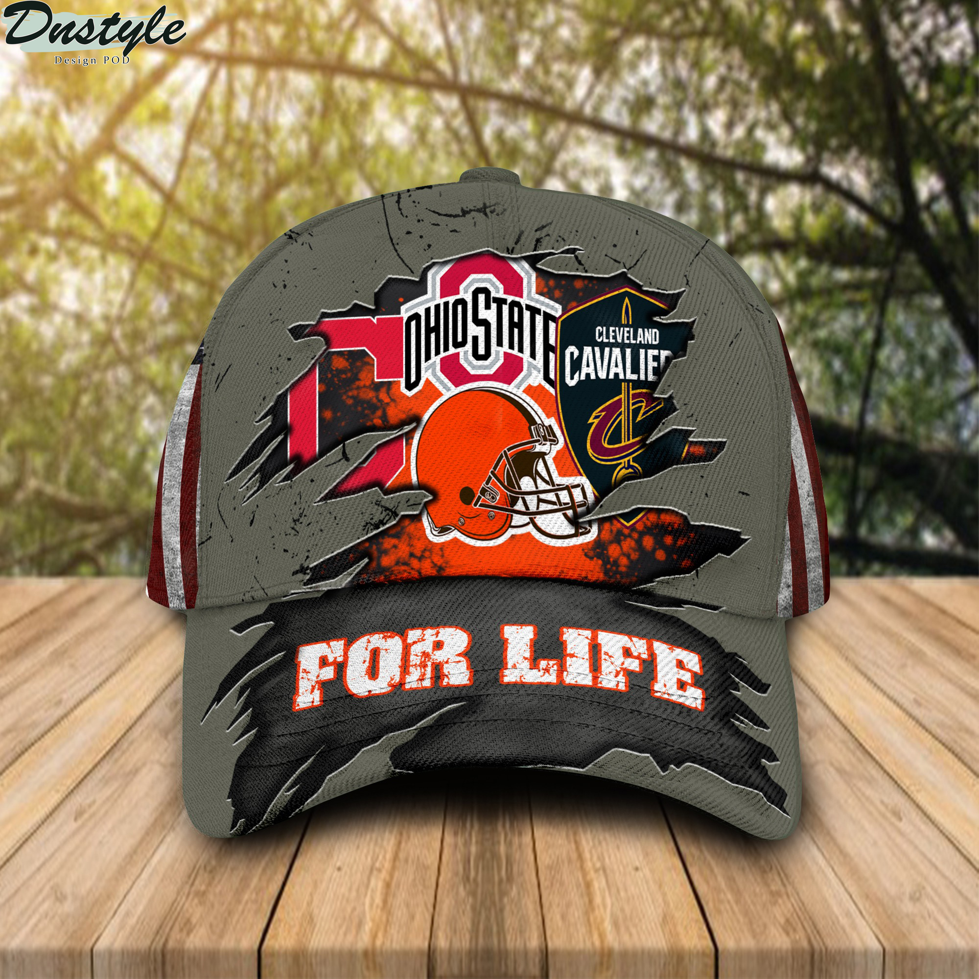 Ohio State Buckeyes Cleveland Cavaliers Cleveland Indians Cleveland Browns for life cap