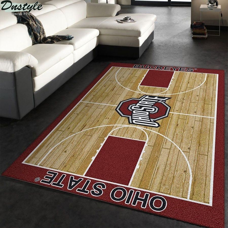 Ohio state buckeyes football rug