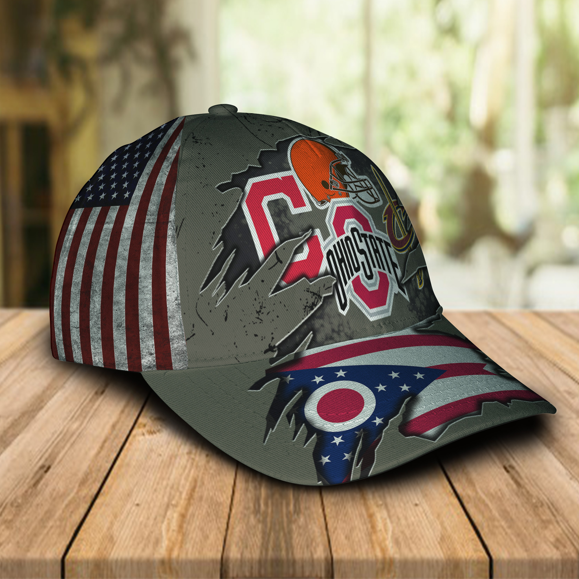 Ohio state buckeys cleveland cavaliers cleveland indians cleveland browns cap 2