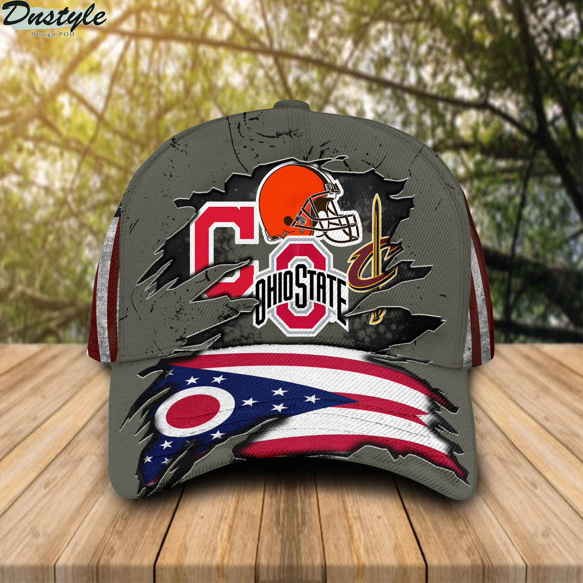Ohio state buckeys cleveland cavaliers cleveland indians cleveland browns cap