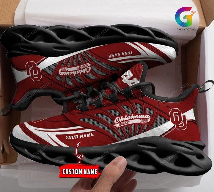 Oklahoma sooners NCAA personalized max soul shoes 1