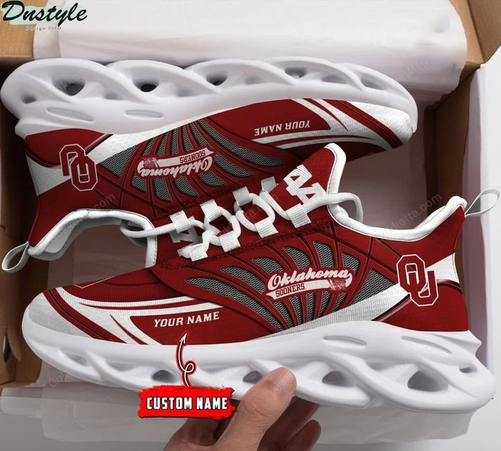 Oklahoma sooners NCAA personalized max soul shoes