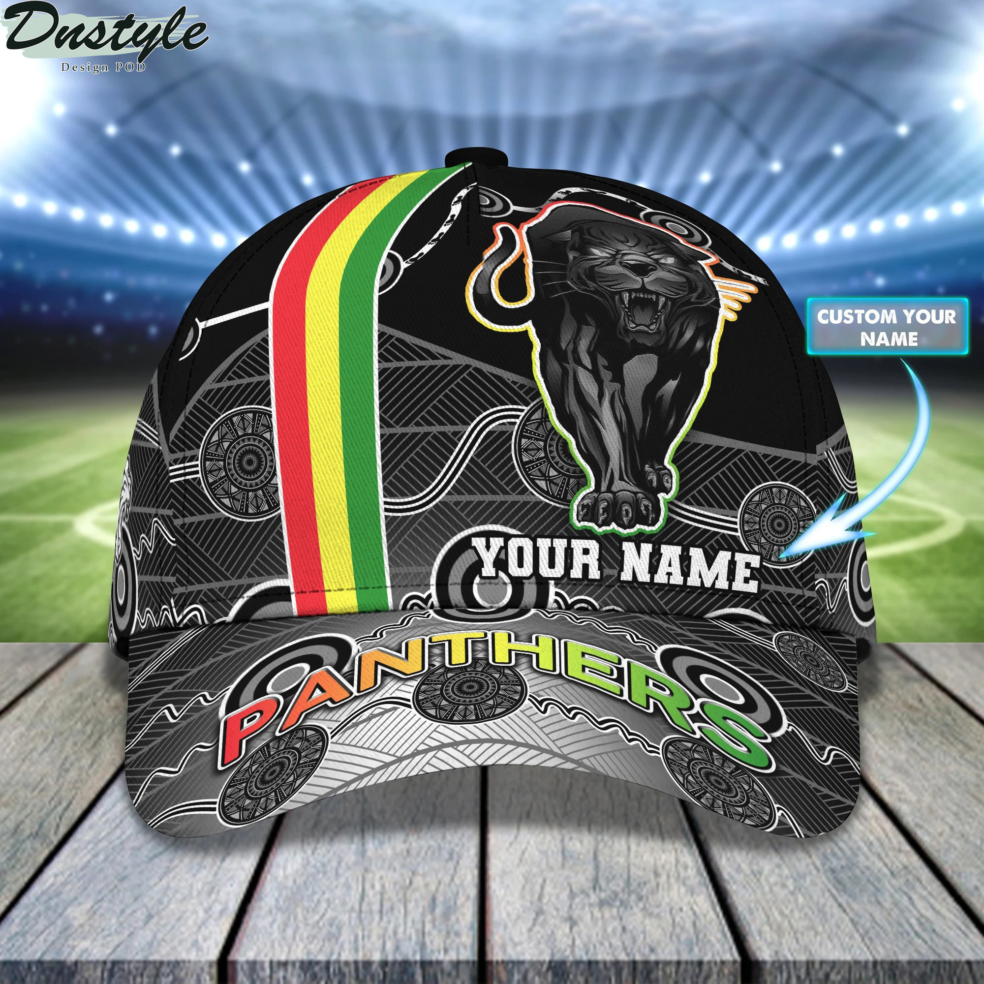 Penrith Panthers Personalized Name Cap