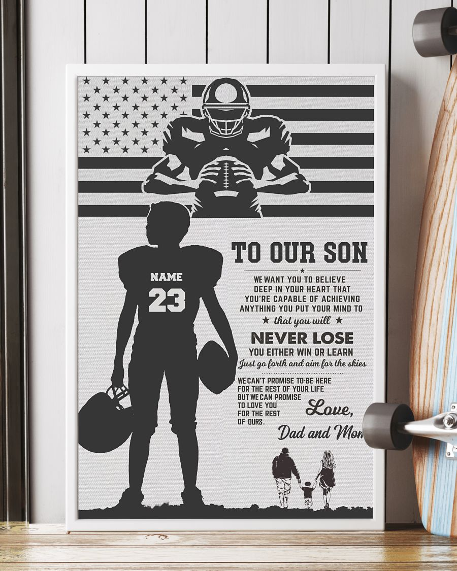 Personalized Baseball To my son Dad and Son poster 1