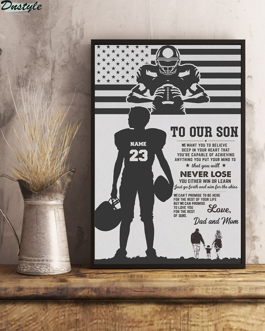 Personalized Baseball To my son Dad and Son poster