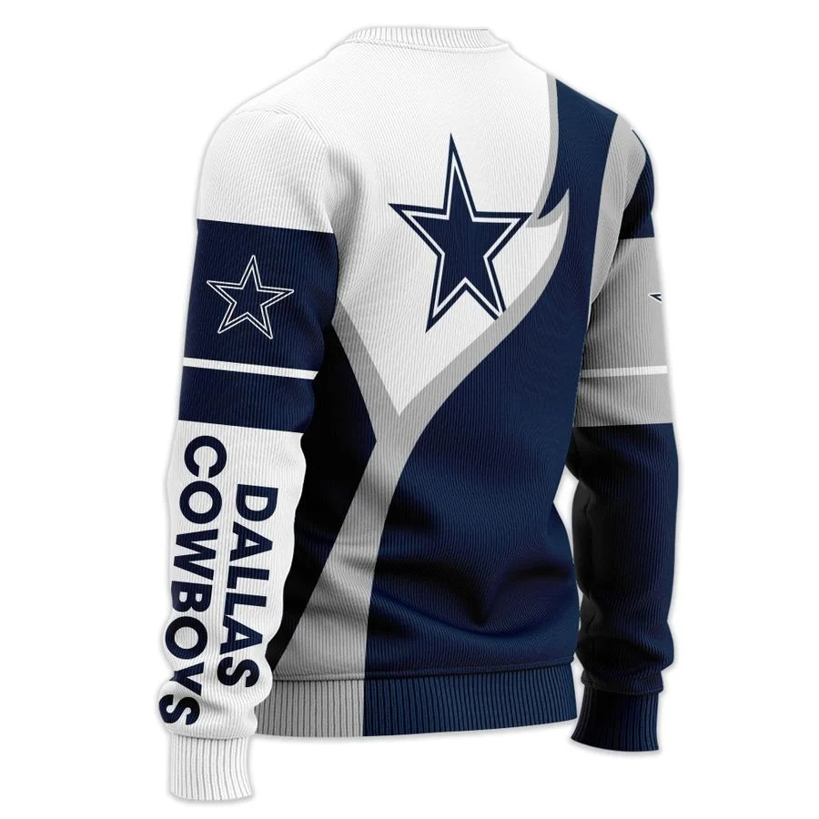 Personalized Dallas Cowboys NFL all over printed ugly sweater 1