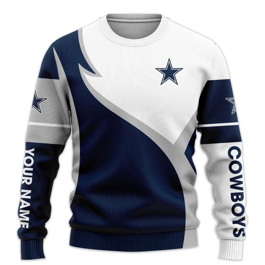 Personalized Dallas Cowboys NFL all over printed ugly sweater 2