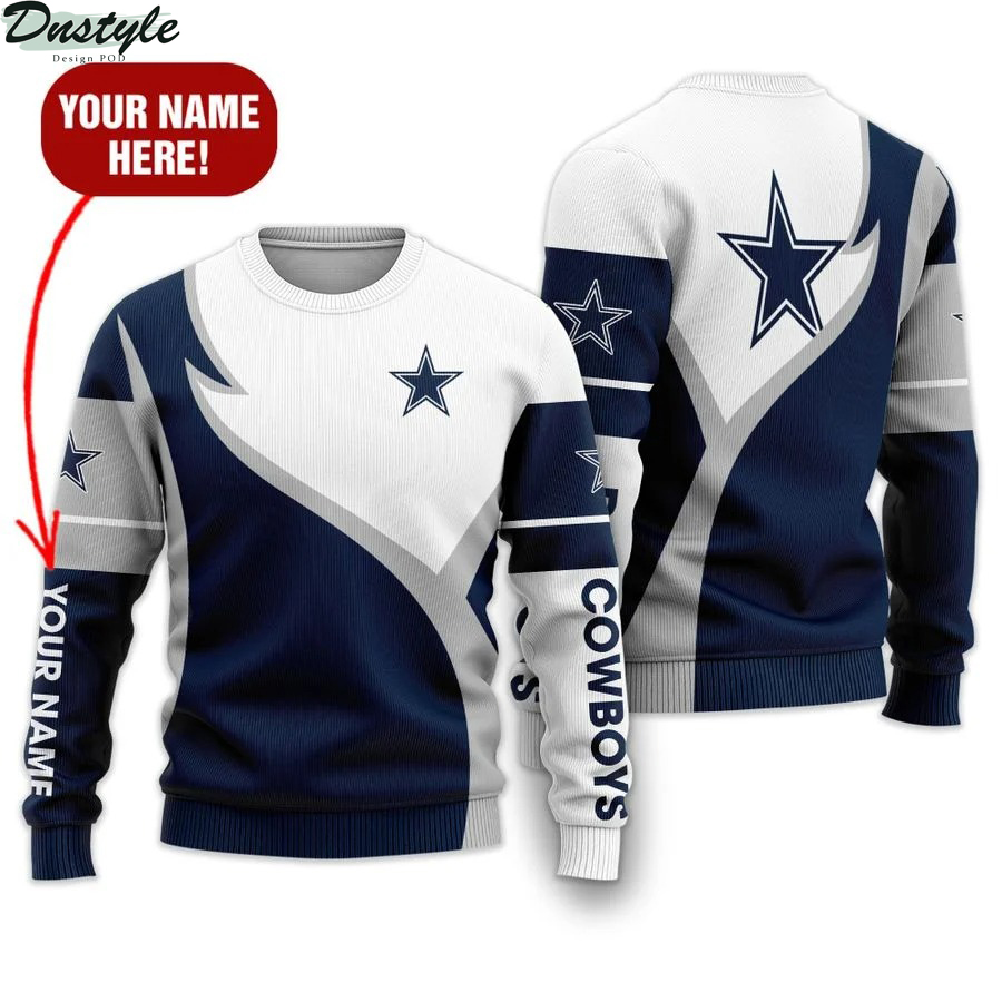 Personalized Dallas Cowboys NFL all over printed ugly sweater