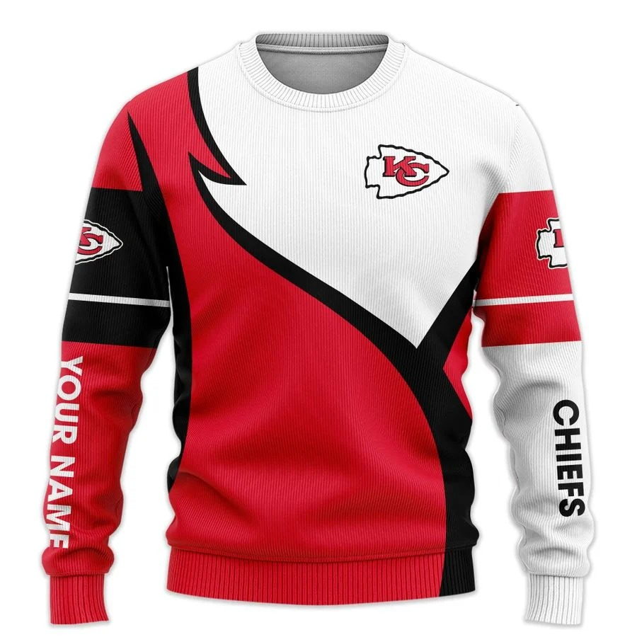 Personalized Kansas City Chiefs NFL all over printed ugly sweater 1
