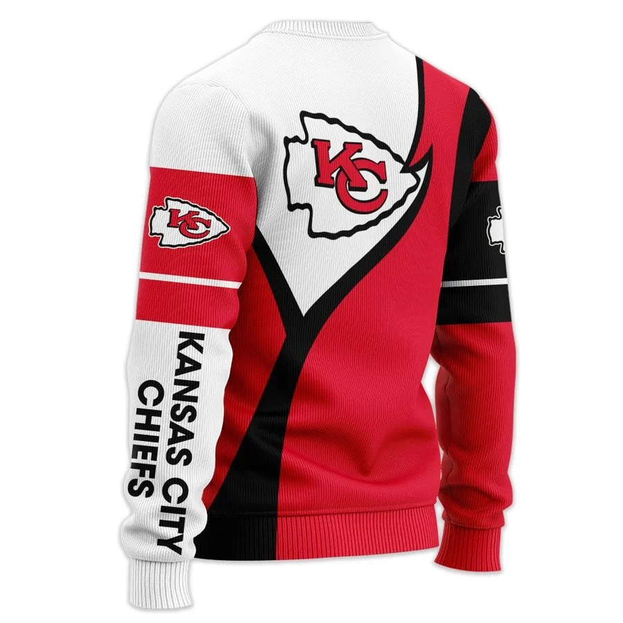 Personalized Kansas City Chiefs NFL all over printed ugly sweater 2