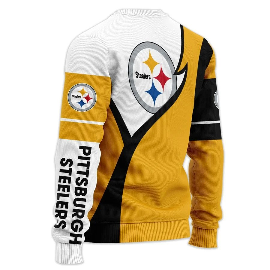 Personalized Pittsburgh Steelers NFL all over printed ugly sweater 1