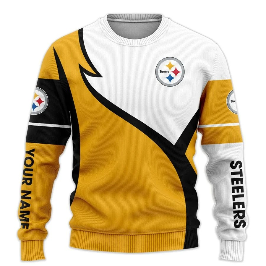 Personalized Pittsburgh Steelers NFL all over printed ugly sweater 2