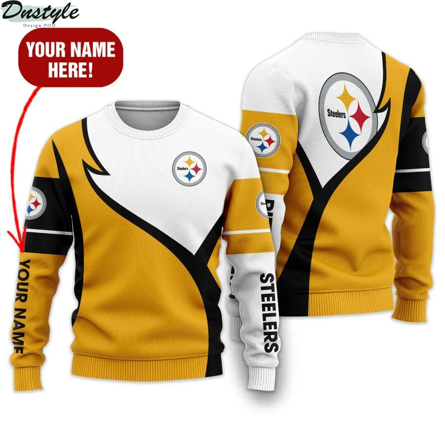 Personalized Pittsburgh Steelers NFL all over printed ugly sweater