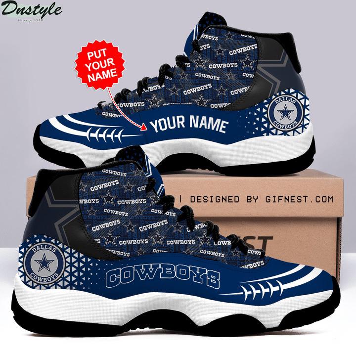 Personalized dallas cowboys air jordan 11 sneaker