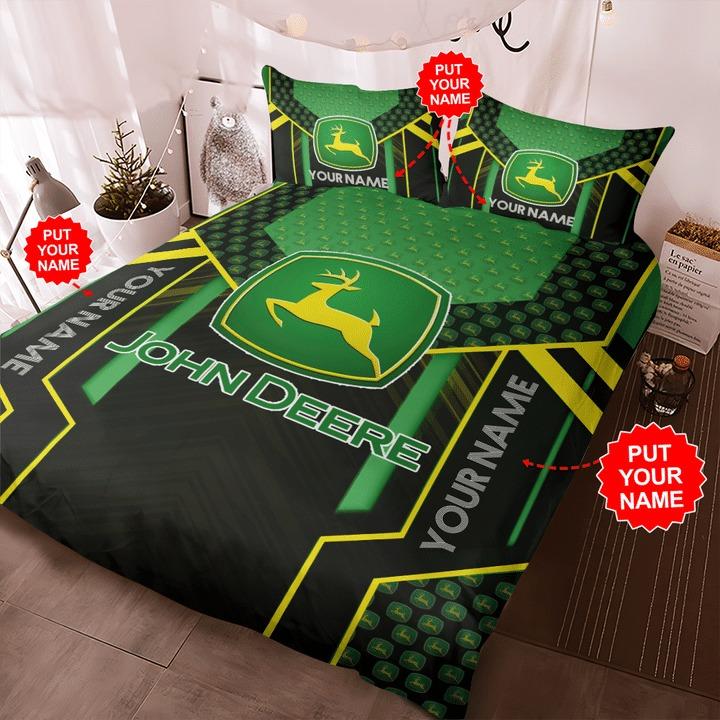 Personalized john deere custom name bedding set 1