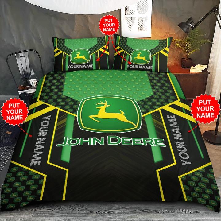Personalized john deere custom name bedding set 2
