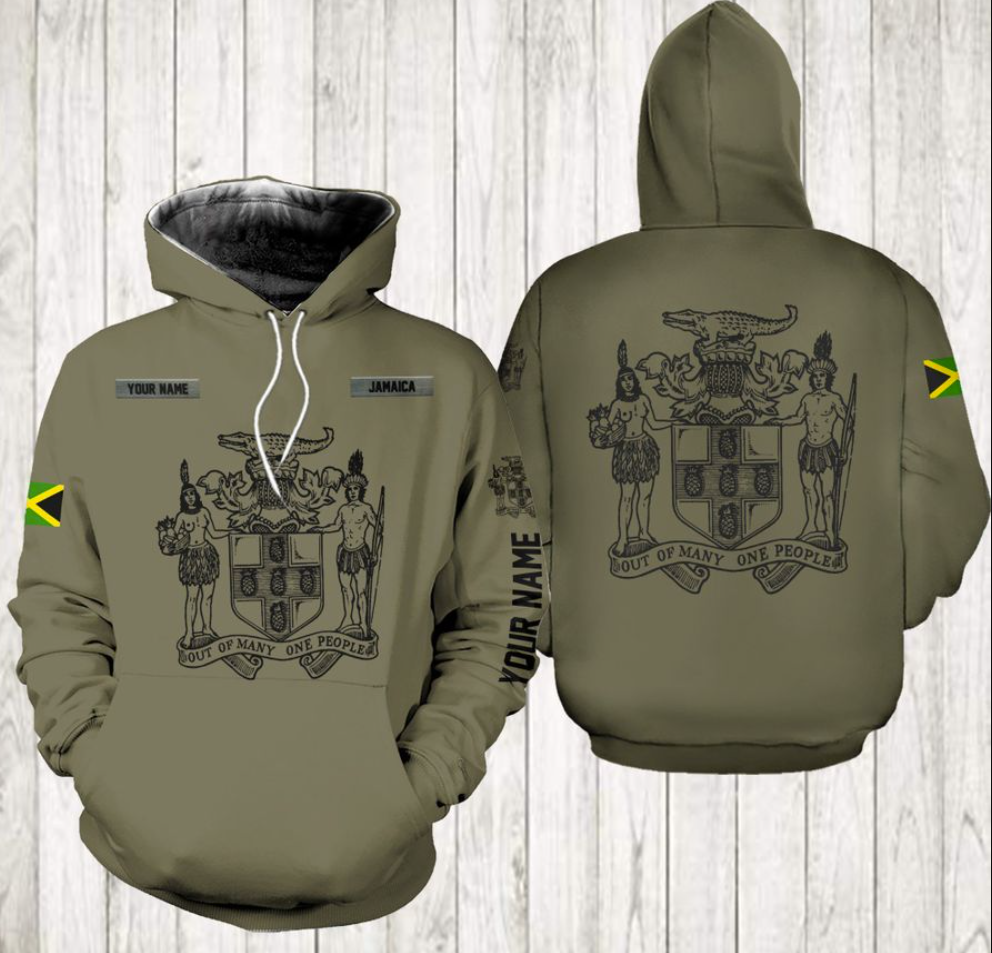 Personalized out of many one people all over printed 3D hoodie