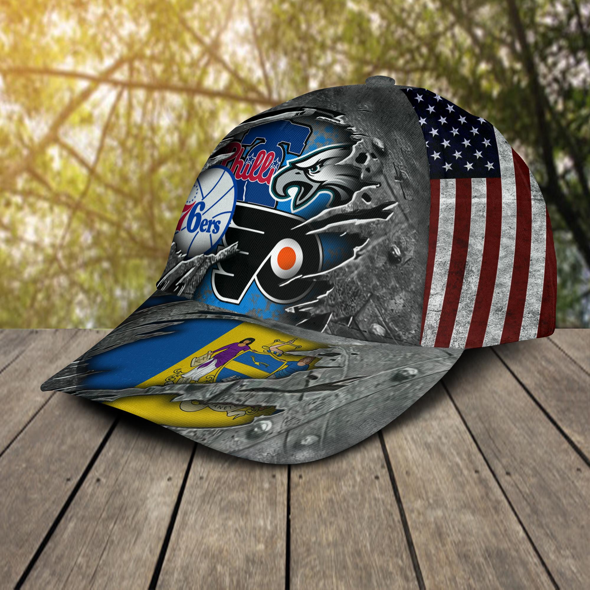 Philadelphia Eagles Flyers 76ers Phillies Cap 2