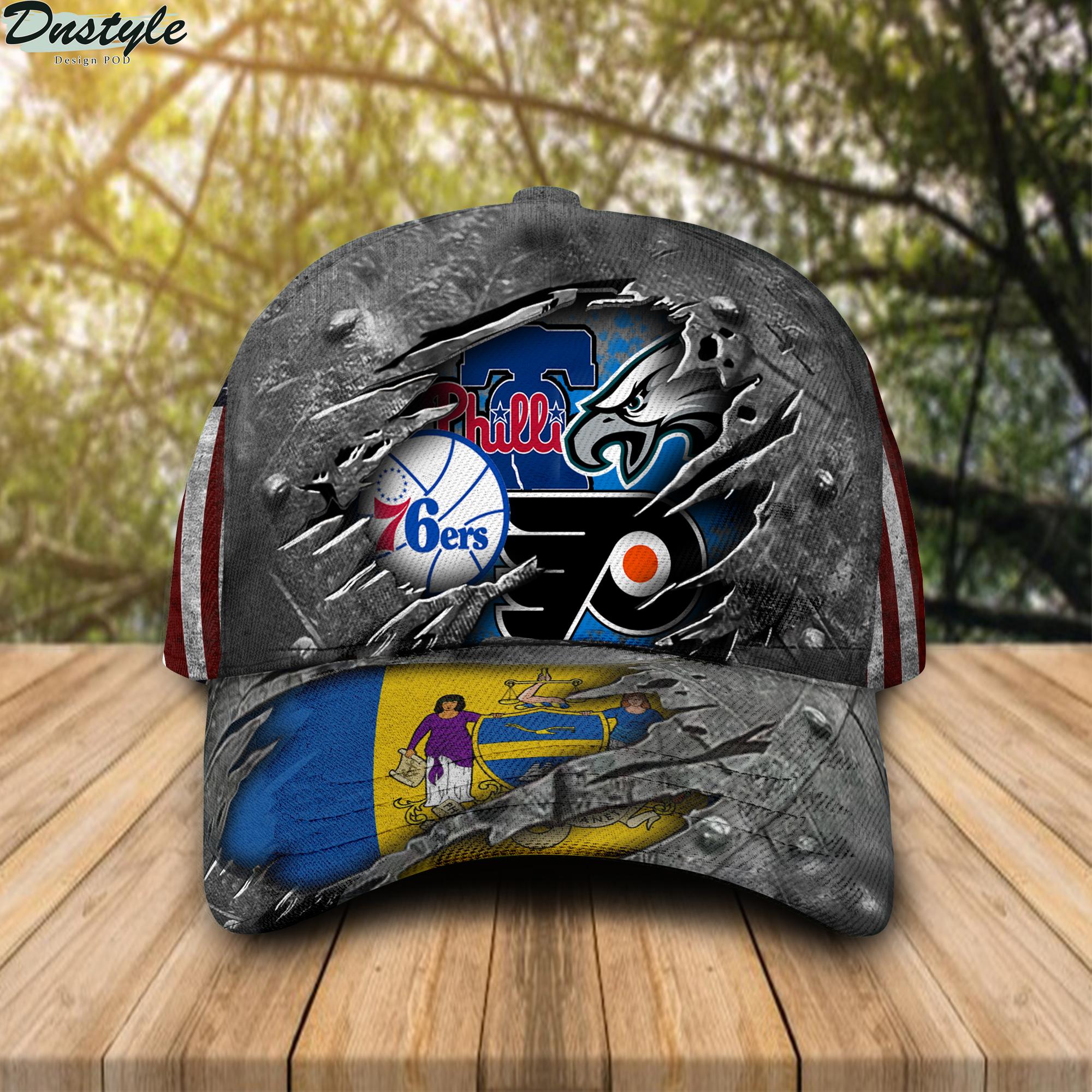 Philadelphia Eagles Flyers 76ers Phillies Cap