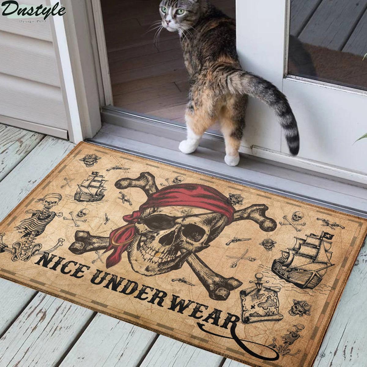 Pirate skull and crossbones nice underwear doormat