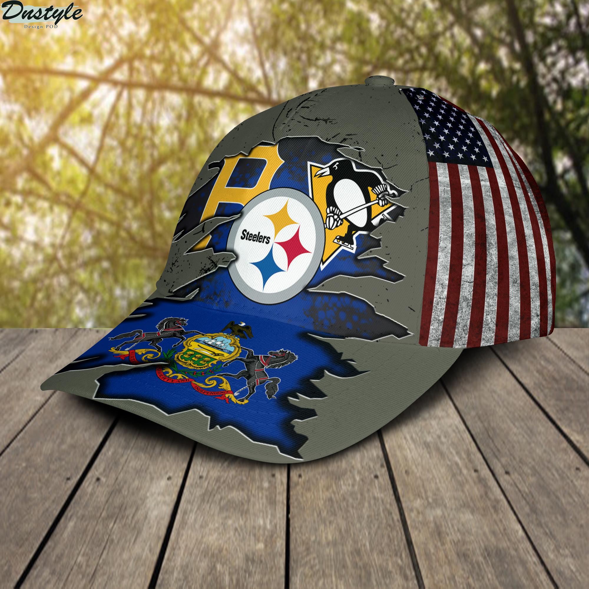 Pittsburgh Steelers Pittsburgh Pirates Pittsburgh Penguins Cap