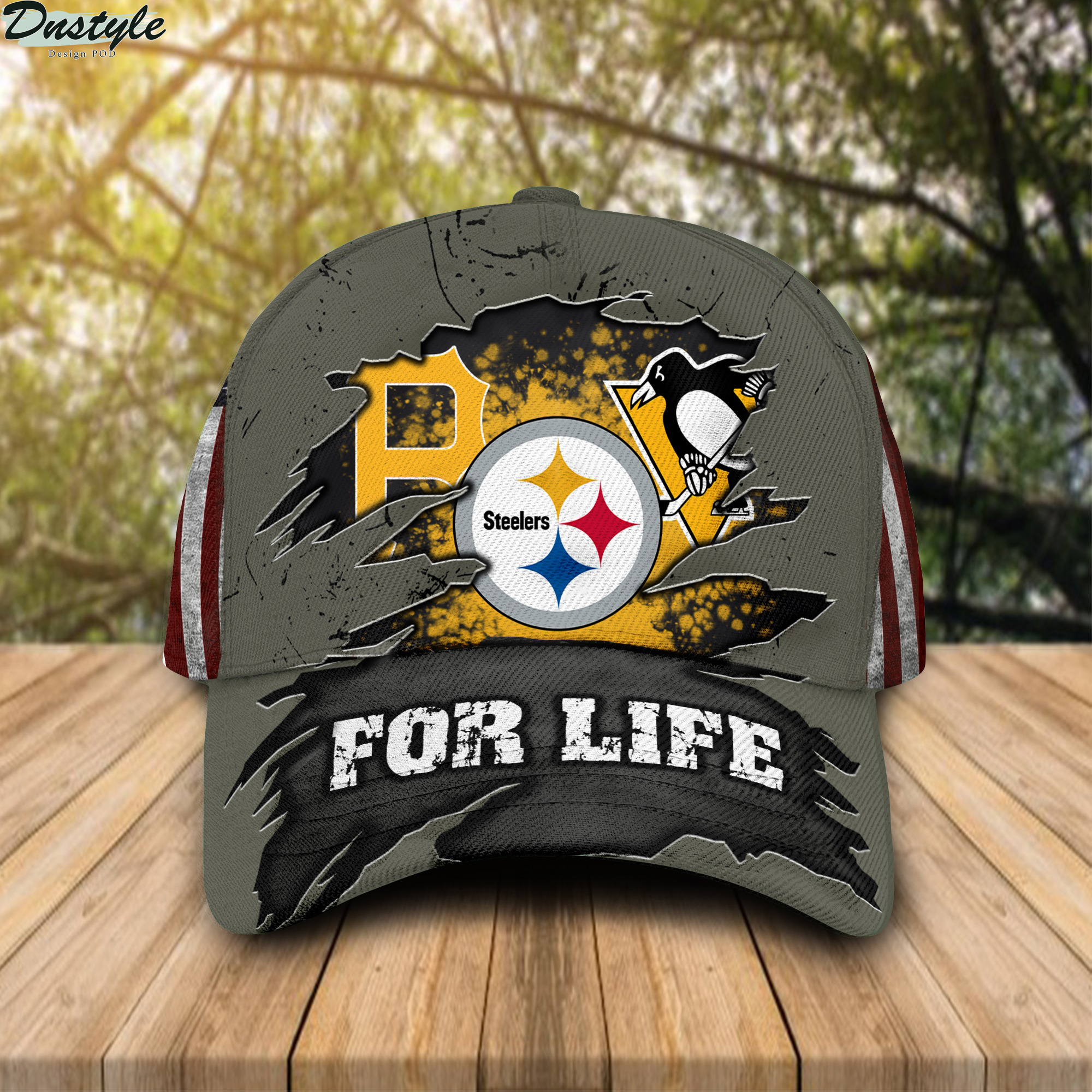Pittsburgh sports team pirates steelers penguins for life cap