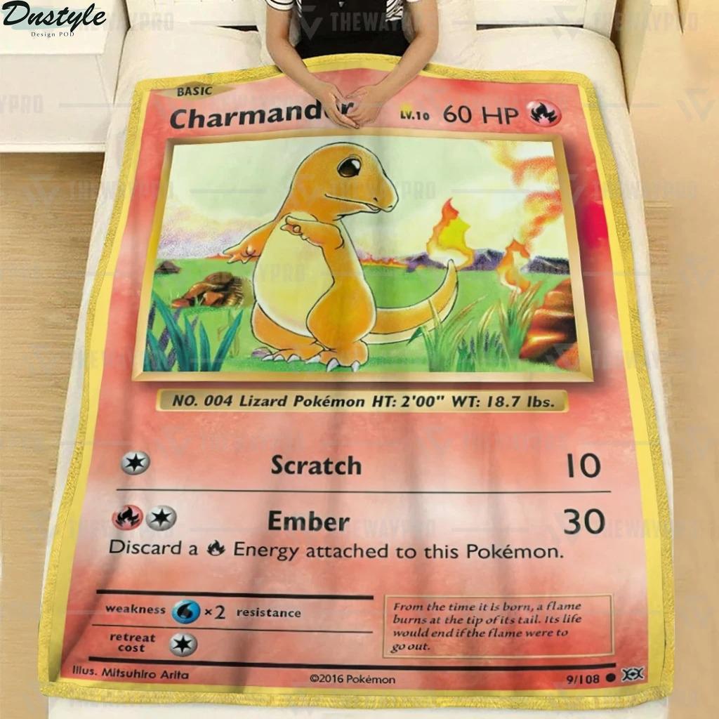 Pokemon Charmander fleece blanket