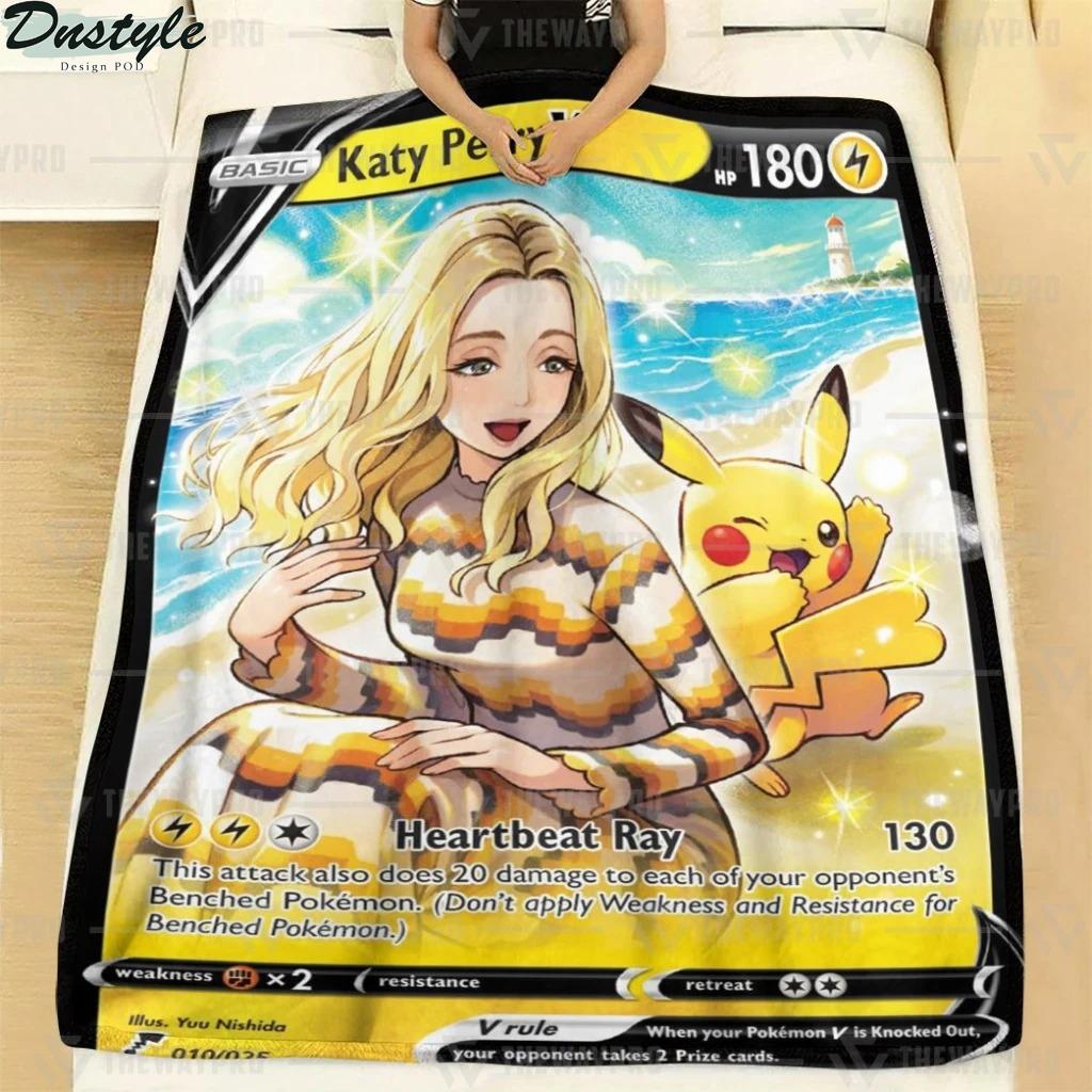 Pokemon Katy Perry Pikachu fleece blanket