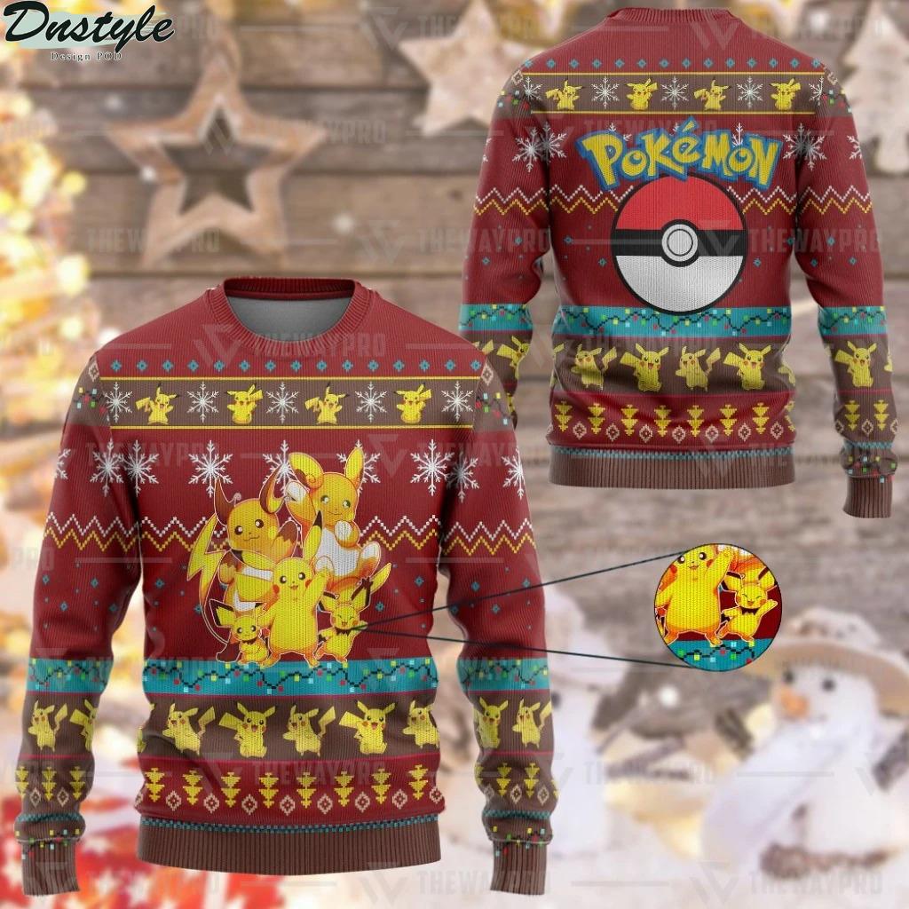 Pokemon Pika Pika Custom Imitation Knitted Ugly Sweater