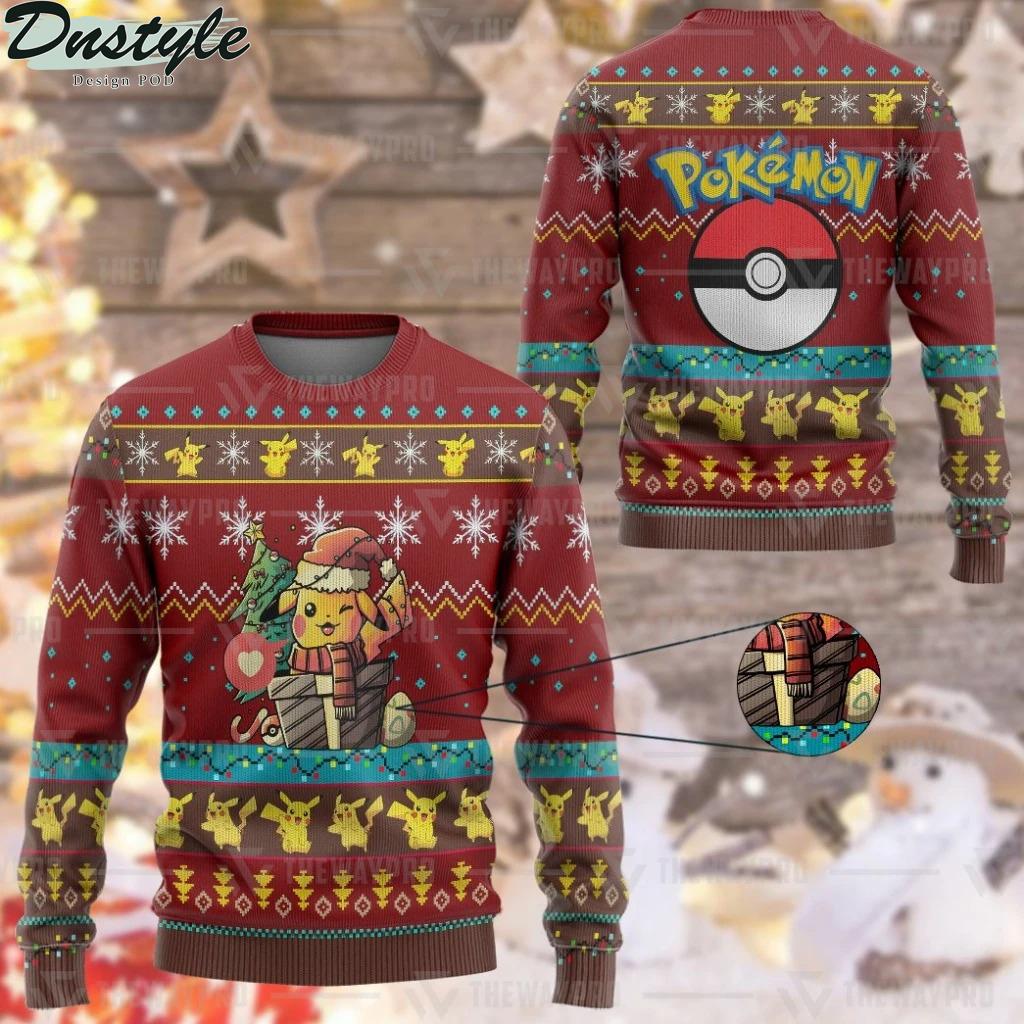 Pokemon Pikachu Electric Gift Christmas Ugly Sweater