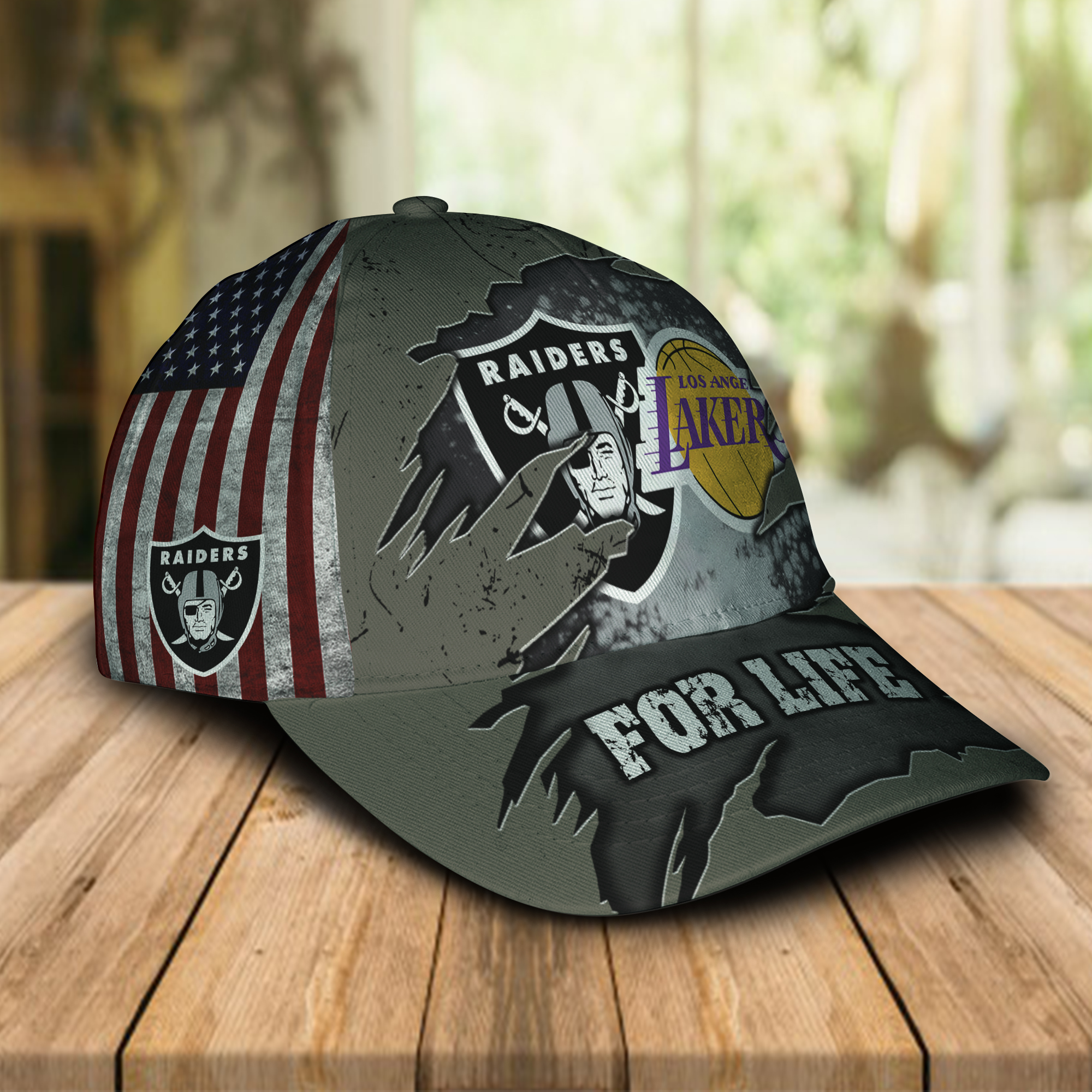 Raiders And Los Angeles Lakers For Life Cap 2