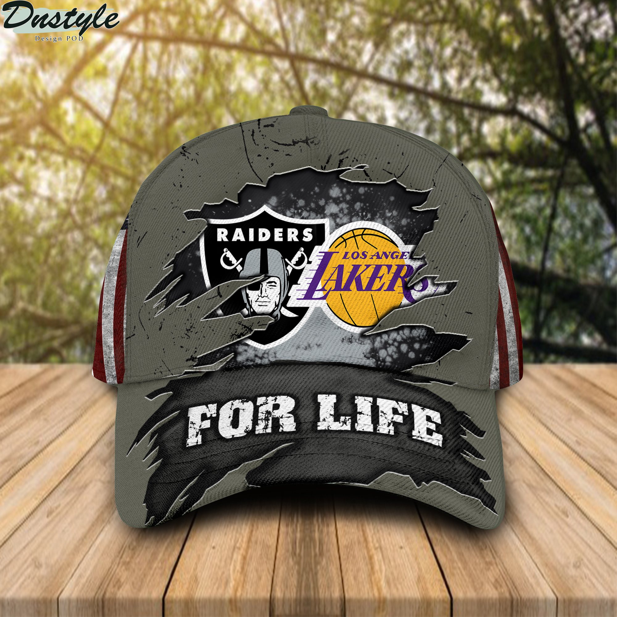 Raiders And Los Angeles Lakers For Life Cap