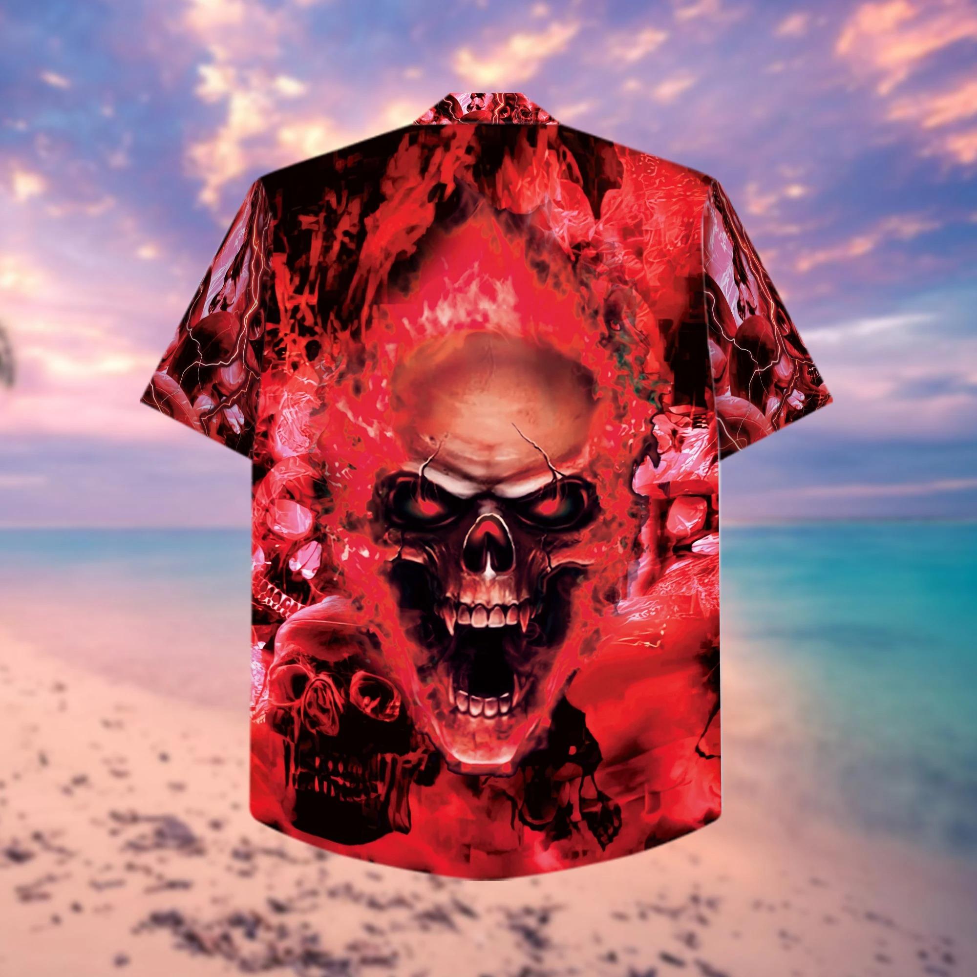 Red Skull Hawaiian Shirt 2