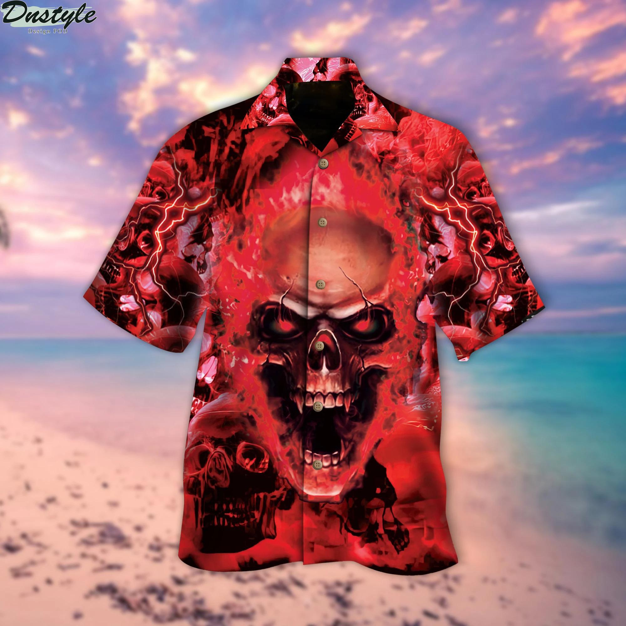 Red Skull Hawaiian Shirt