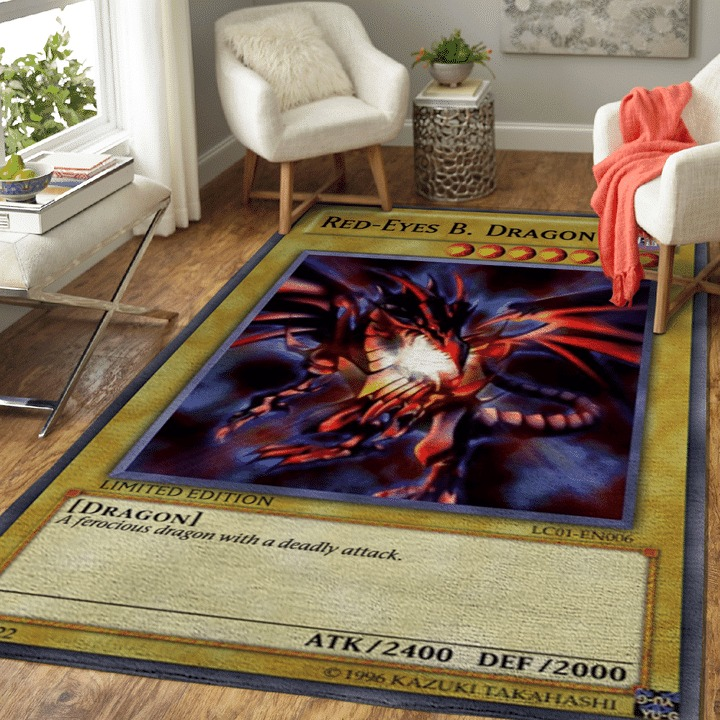 Red eyes black dragon rug Yugioh rug 1