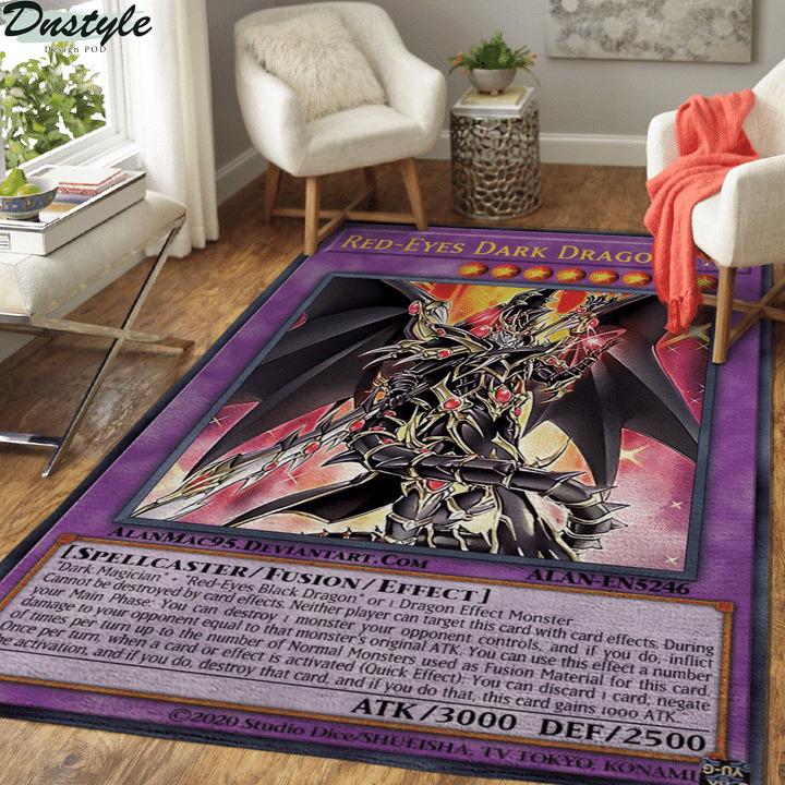 Red-eyes dark dragon card rug