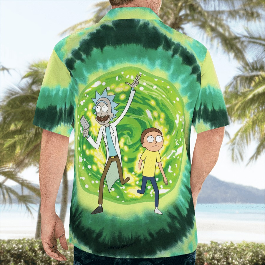Rick and morty science hawaiian shirt 2