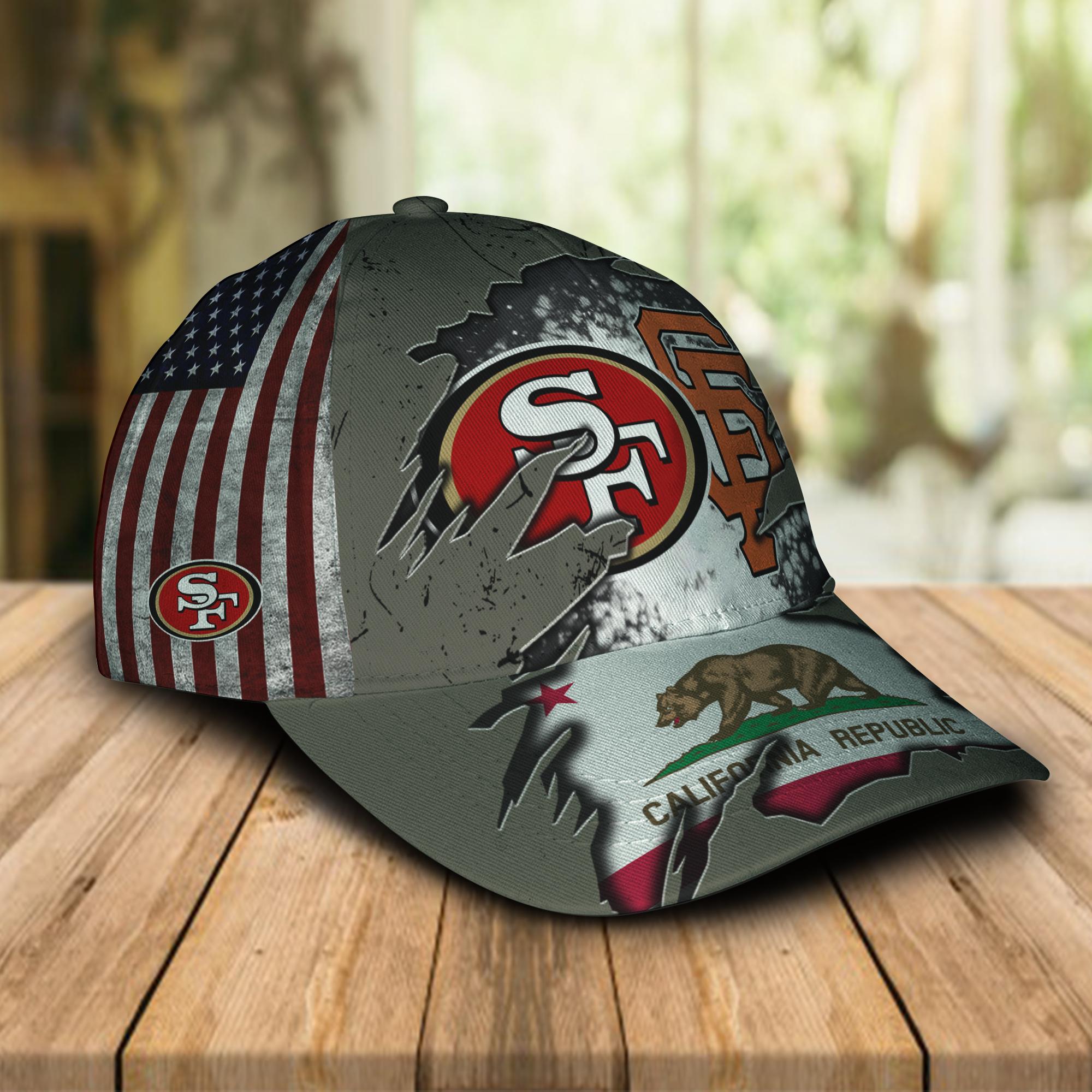 San Francisco 49ers And San Francisco Giants California Republic Cap 1