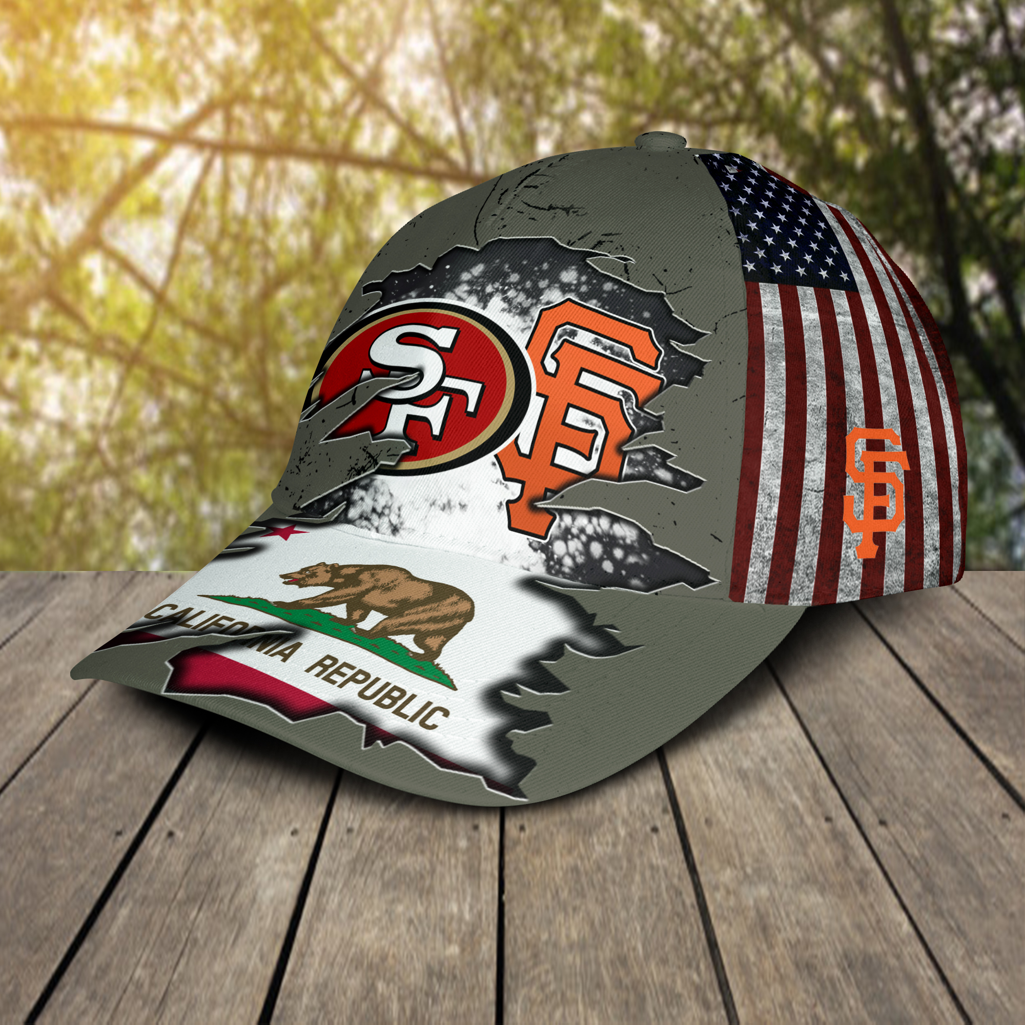 San Francisco 49ers And San Francisco Giants California Republic Cap 2