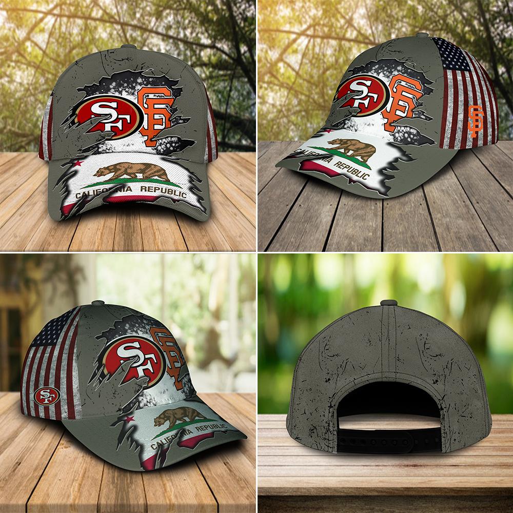 San Francisco 49ers And San Francisco Giants California Republic Cap 3