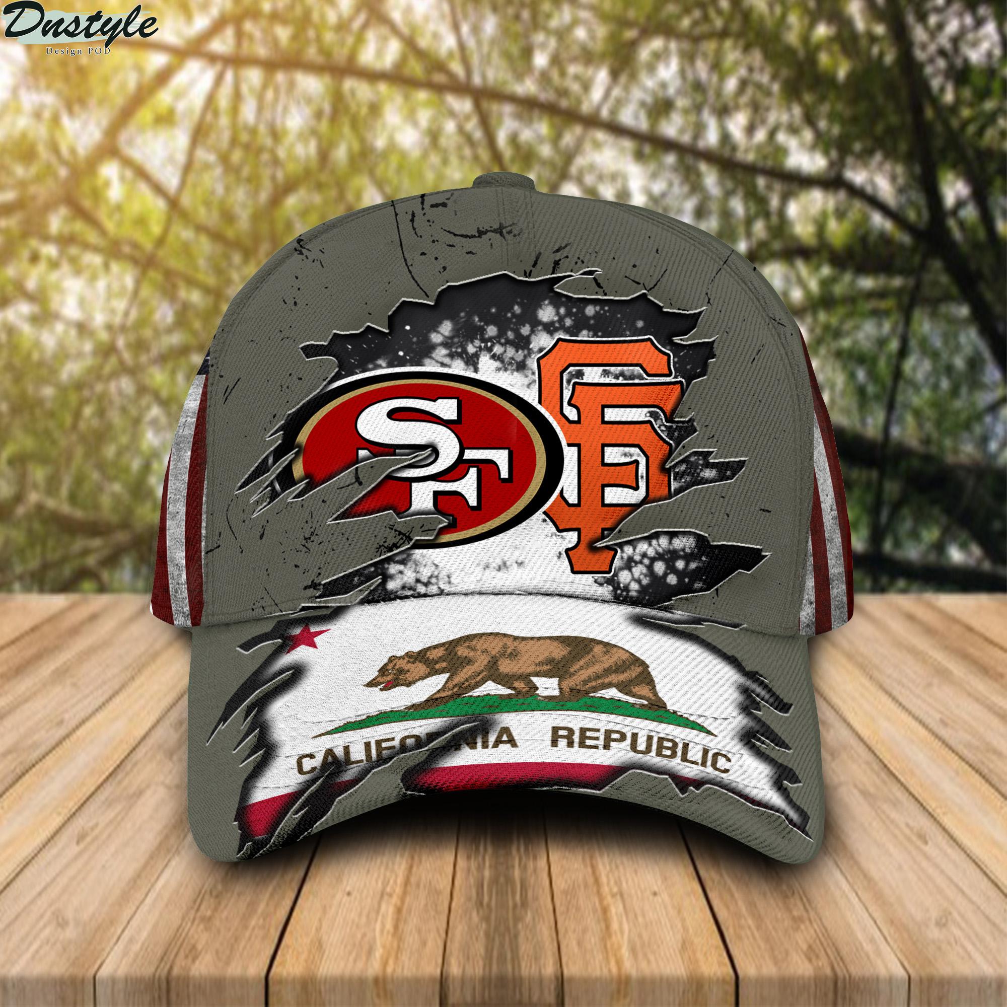 San Francisco 49ers And San Francisco Giants California Republic Cap
