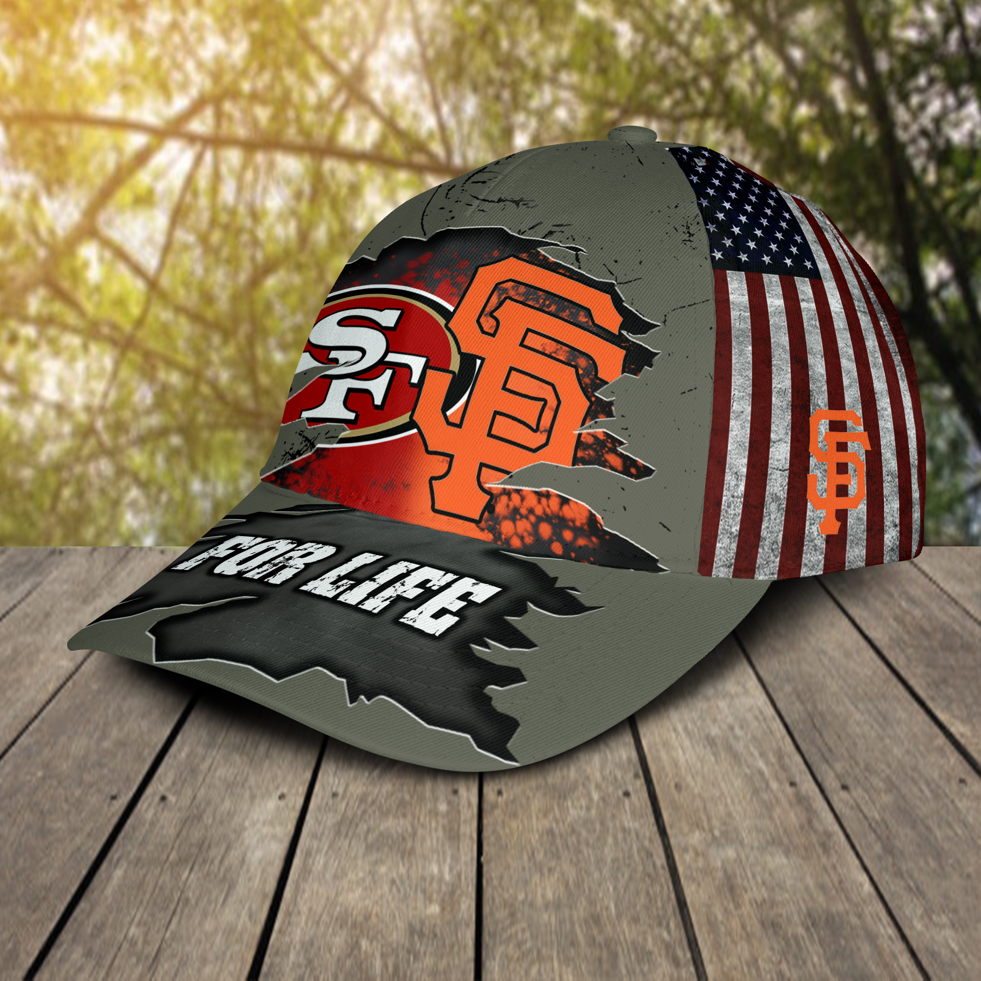 San Francisco 49ers And San Francisco Giants For Life All Over Print Cap 3